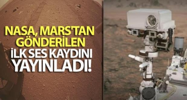 NASA Mars'tan Gönderilen Ses Kaydını Yayınladı
