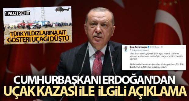 Cumhurbaşkanı Erdoğan'dan Uçak Kazası İle İlgili Açıklama