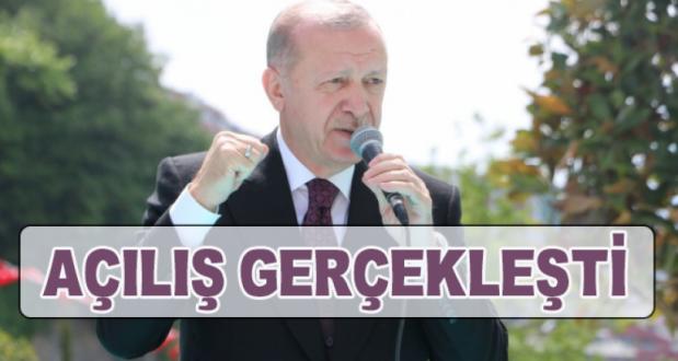 Cumhurbaşkanı Erdoğan Burhaniye Şehriban Hatun Camii'ni Açtı