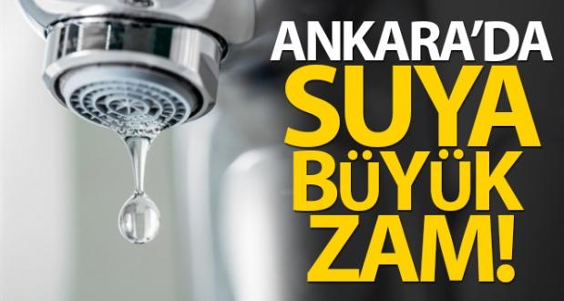 Ankara'da Suya Yüzde 80'e Varan Zam