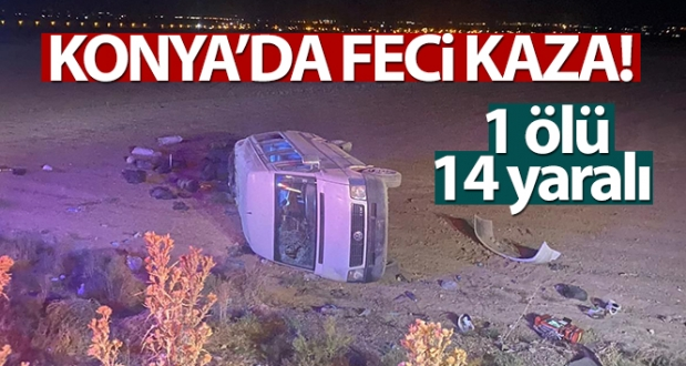 Konya'da Feci Kaza!