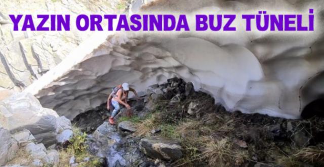 Uludağ'da Dağcılar Temmuz Ortasında 50 Metre Uzunluğunda Buz Tüneli Buldu